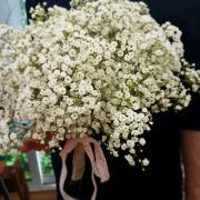 Bouquet de mariée bohème chic gypsophile Hé fleur et moi fleuriste de Valenciennes